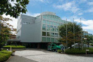 The secon building of the Fujitsu cross culture center having water pumped from the garages