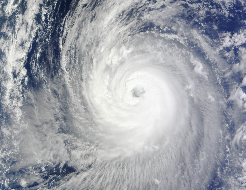 Nasa's photo of typhoon 18
